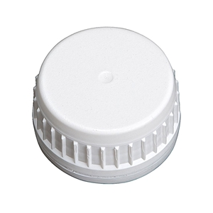 Image sur Bouchon à vis DIN38 inviolable blanc
