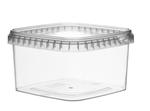 Afbeeldingen van TPS Plastic pot vierkant 750ml met veiligheidssluiting inclusief deksel