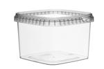 Afbeeldingen van TPS Plastic pot vierkant 900ml met veiligheidssluiting inclusief deksel
