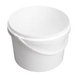 Afbeeldingen van Emmer 5L wit met plastic handvat