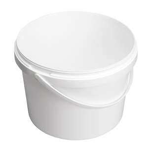 Image sur Seau 5L blanc avec anse en plastique