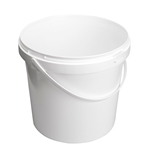 Afbeeldingen van Emmer 10L wit met plastic handvat