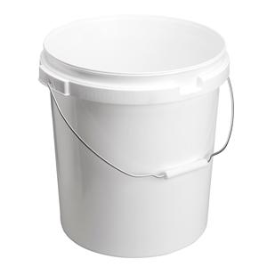 Image sur Seau 20L blanc avec anse en métal