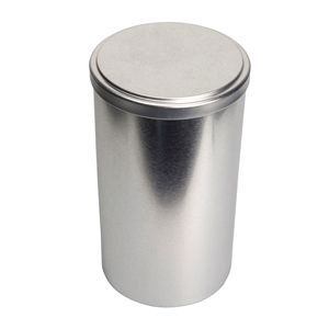 Image sur Boîte en  métal cylindrique ø 110mm x 200mm avec coiffant