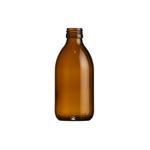 Afbeeldingen van Siroopfles 250ml glas ROPP28 amber