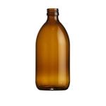 Afbeeldingen van Siroopfles 500ml glas ROPP28 amber