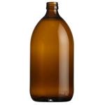 Afbeeldingen van Siroopfles 1.000ml glas ROPP28 amber
