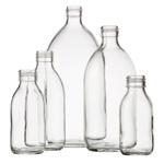 Image de la catégorie Bouteilles sirop verre blanc