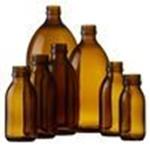Afbeelding voor categorie Siroopflessen glas amber