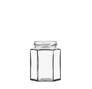 Image sur Bocal hexagonal 195ml verre TO58 transparent