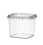 Afbeeldingen van TPS Plastic pot vierkant 280ml met veiligheidssluiting inclusief deksel