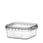 Afbeeldingen van TPS Plastic pot vierkant 125ml met veiligheidssluiting inclusief deksel